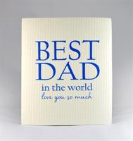 Disktrasa, Best Dad, vit/blå text
