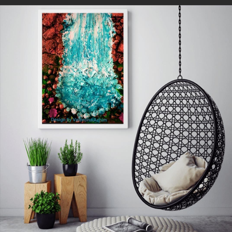 Fotoposters  30x40 cm,vattenfall
