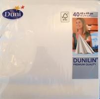 Dunilin servietter, hvite 48cm 40stk.