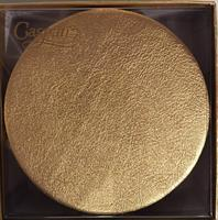 Caspari glassbrikke 8stk, Leather gold