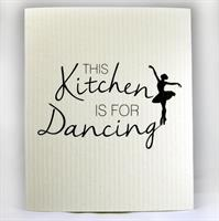 Disktrasa, Kitchen dancing, vit/svart text