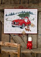 Julkalender Jultomte i bil