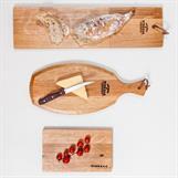 Oval serveringsbricka baguetteboard skärbräda