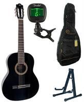 Akustisk gitar pakke med Morgan CG10DLX BK