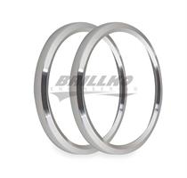 4-1/2 BEZELS, SILVER, PACK OF 2