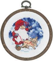 Minitavla julgris med ram