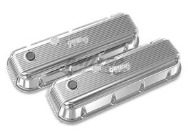 BBC HOLLEY VALVE COVERS,FINNED,NON-EMIS,