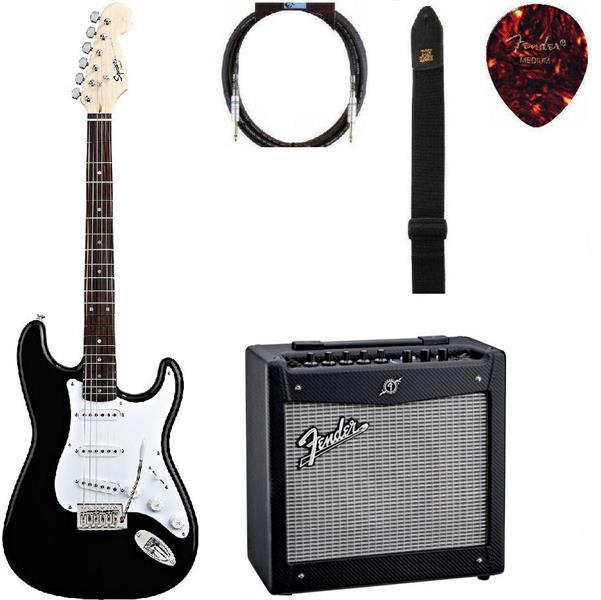 Gitarpakke mini Squier strat BLK