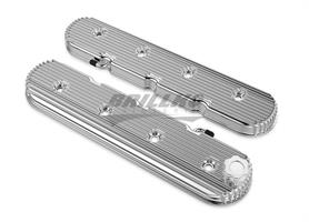 LS VALVE COVERS VINTAGE FINNED POLISHED