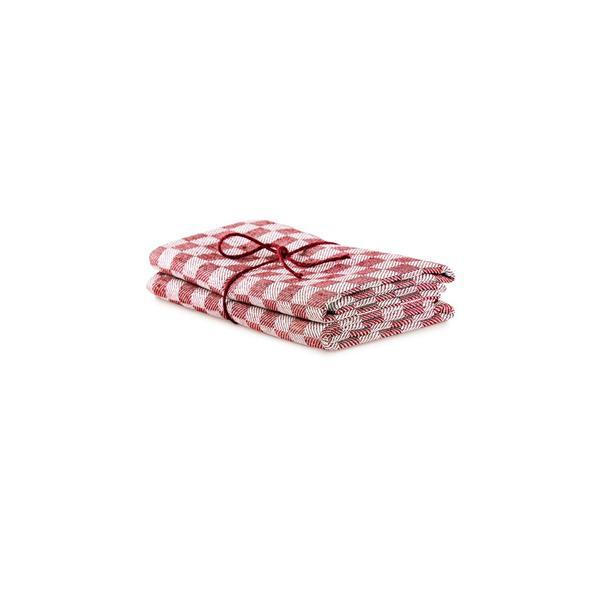 Handduk Schack röd-vit