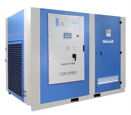 Parise kompressoreilla saadaan tuottoa 27300 l/min, 8 bar