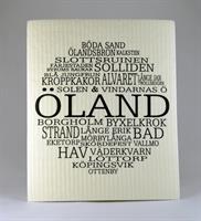 Disktrasa, Öland, vit/svart text
