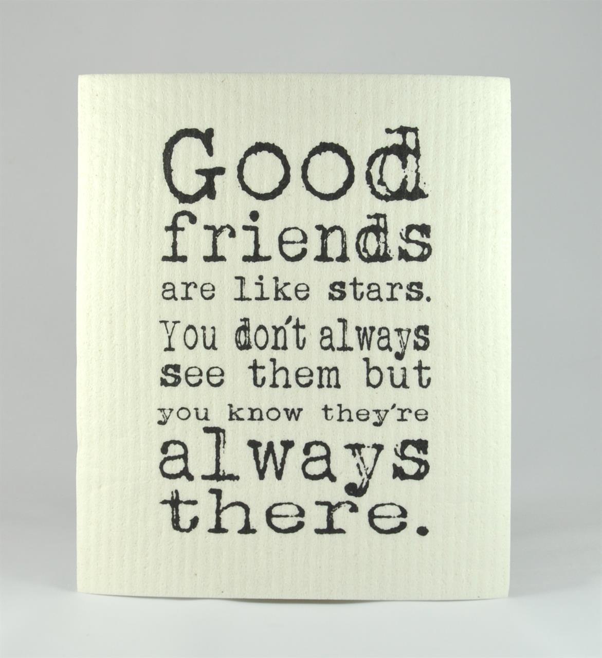 Disktrasa, Good friends, vit/svart text