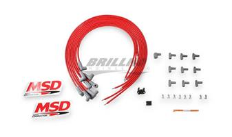 Wire Set,SC,Red,8Cyl,90/90 Boots, Univ