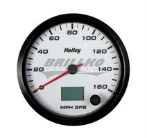 4-1/2 HOLLEY 160 GPS SPEEDO-WHT