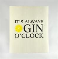 Disktrasa, Gin o'clock, vit/svart-gul text
