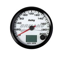 3-3/8 HOLLEY 200 GPS SPEEDO-WHT