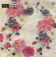 Lunsjservietter Sommer florals 3 lags 20stk
