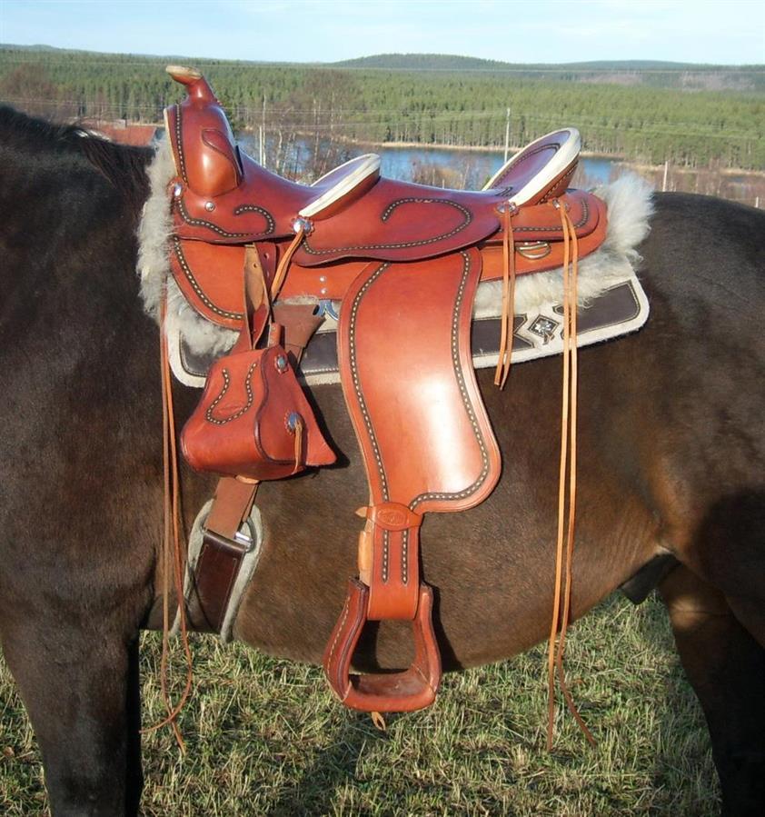 Westernsadel med dubbla säten