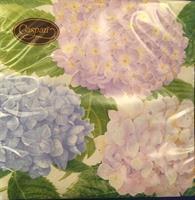 Middag serviett Hydrangea lavender 3 lag 20stk