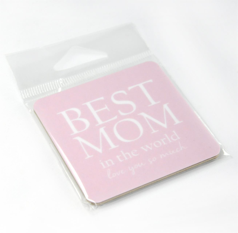 Magneter, Best Mom, rosa/vit text