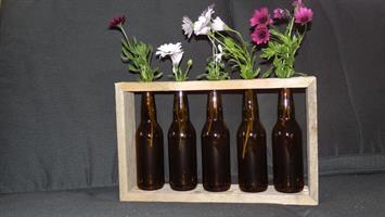 Flaskevase Aass brun