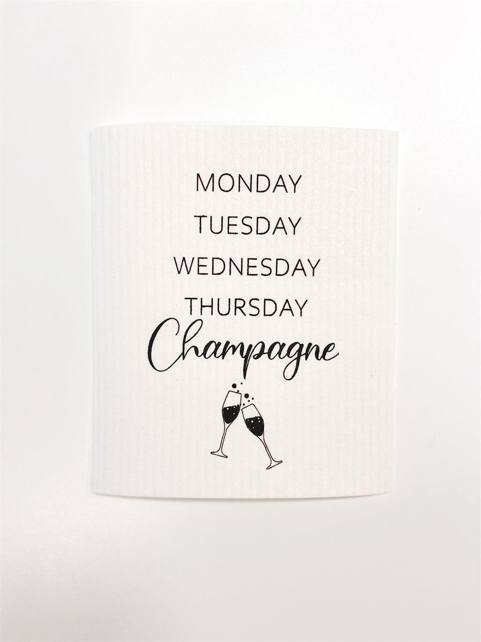 Disktrasa, Monday-Champagne, vit/svart text