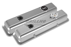 SBC MUSCLE SERIES VALVE COVERS,FINNED,PO