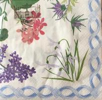 Lunsjservietter Flower mosaic, 3 lags 20stk