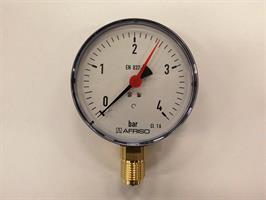 Manometer 0-4 Bar Ø100mm, ½