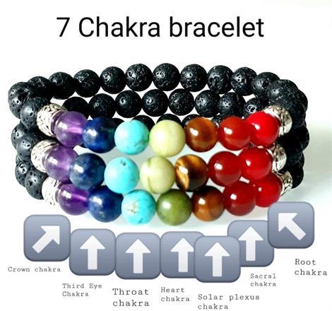 7 Chakra armband /Balansera dina chakra/Bohostyle