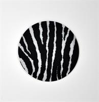 Glasunderlägg 4-p, Zebra, svart/vit