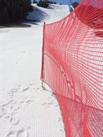 TEX-FENCE SNABBNÄT 10 m 5 käppar Röd