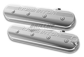 VALVE COVER, TALL LS, POLISHED W/ DOMINA