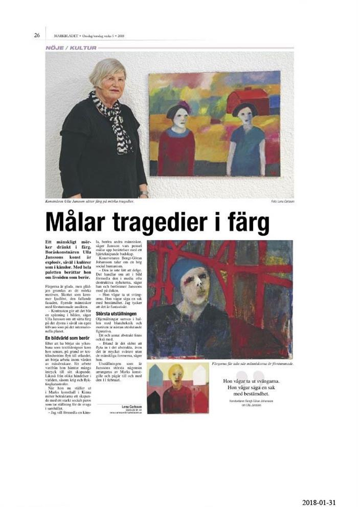 Ulla Jansson - Markbladet 2018-01-31
