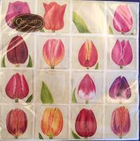 Serviett middag Tulips 3 lags 20stk