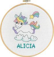 Tavla Alicia enhörning med ram