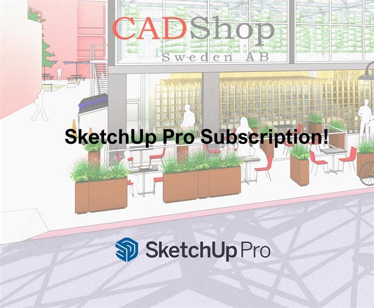 SketchUp Pro hyreslicens 1år