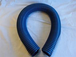 Pelletsslang ø 76mm svart/blå