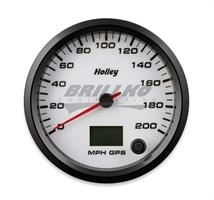 4-1/2 HOLLEY 200 GPS SPEEDO-WHT