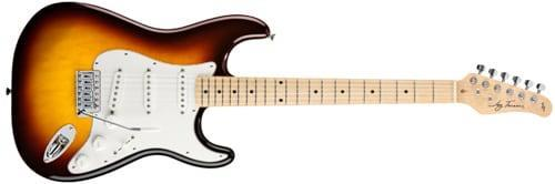 Jay Turser Gitarr Double Cut. Classic Style, Maple FB, 3SC,