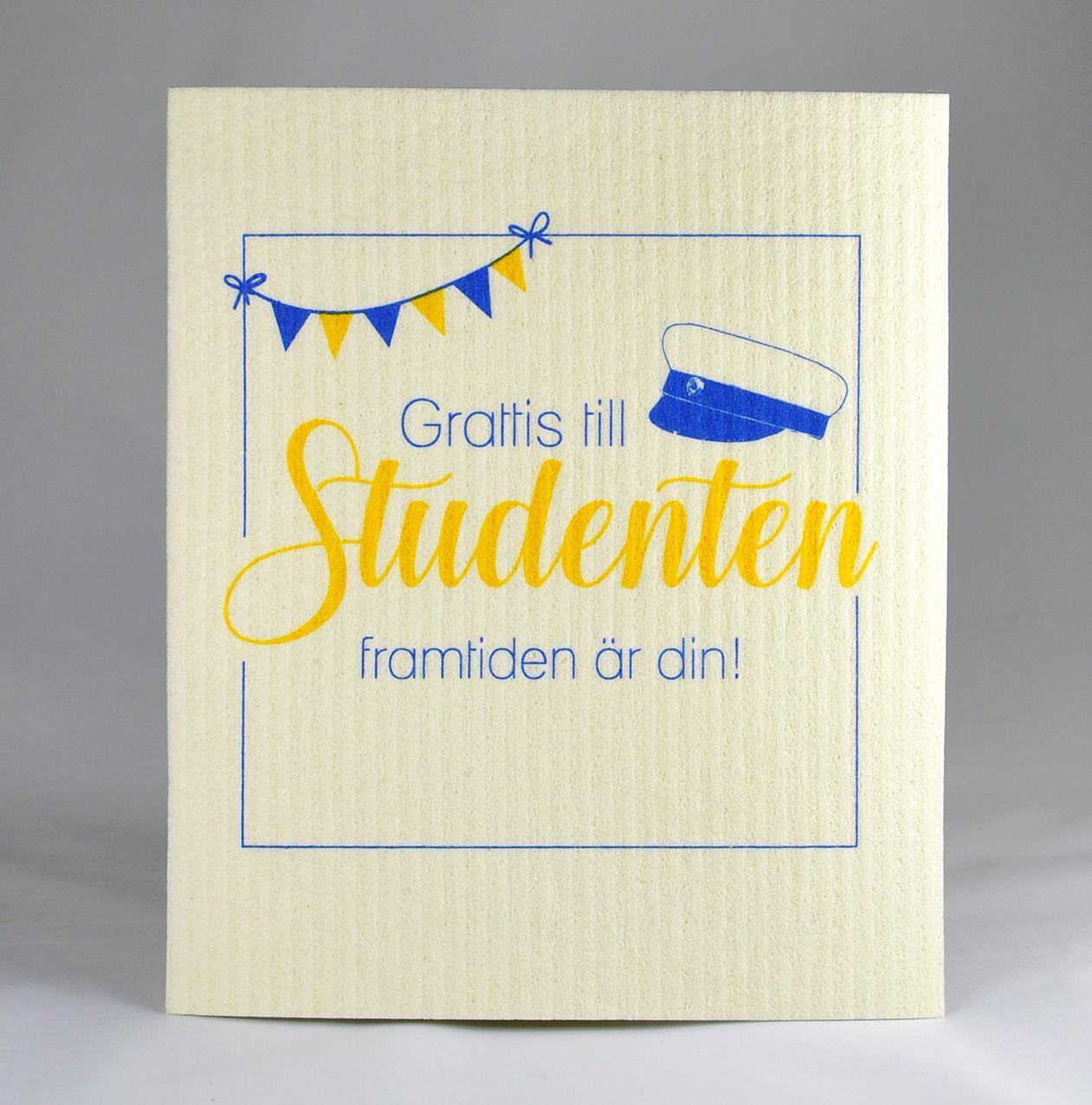 Disktrasa, Studenten, vit/blå-gul text