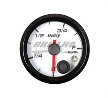 2-1/16 HOLLEY FUEL LEVEL GAUGE-WHT