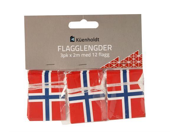Flagglengde m/2 flagg * 3 pk