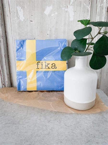 Servetter, Make time FIKA, svensk flagga, 20-p