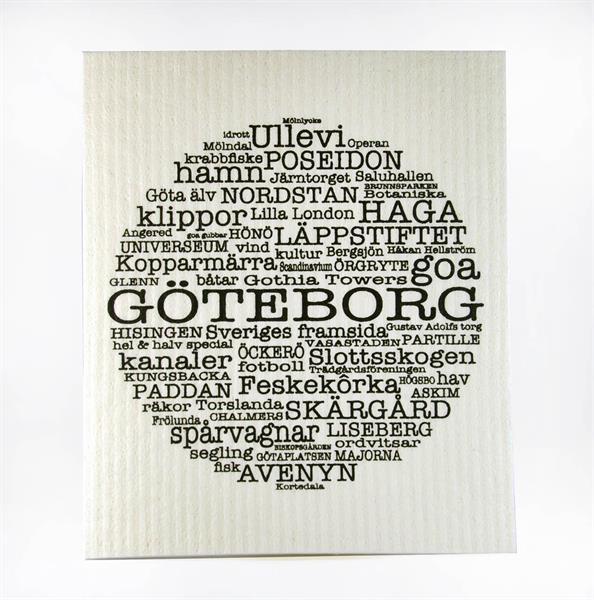 Disktrasa, Göteborg, vit/svart text