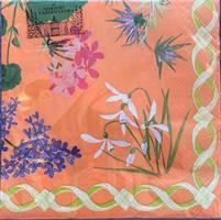 Lunsjservietter Flower mosaic 3 lags 20stk