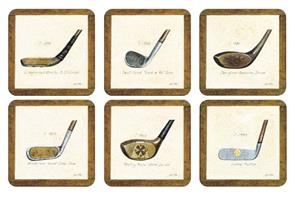 History of golf glassbrikker 6stk