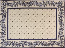 Provence spisebrikke fleurettes - Hvit/blå