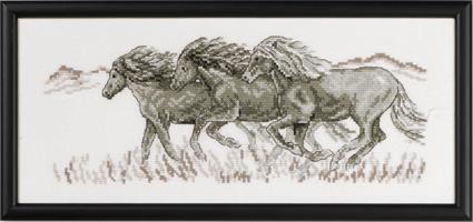 Tavla springande hästar